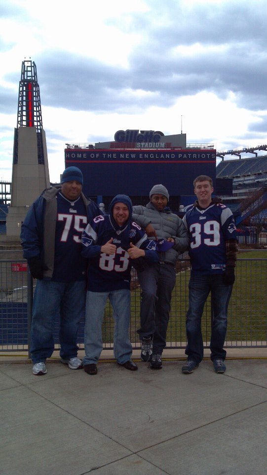 Our crew in front of Gillette Stadium.