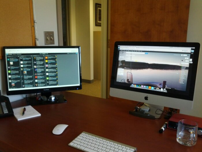 Two monitors