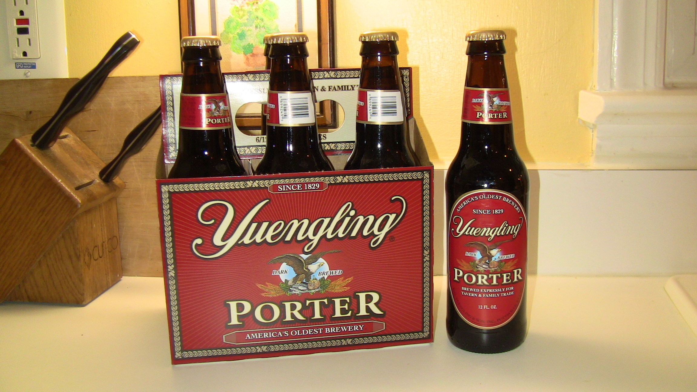 6 pack of Yuengling Porter