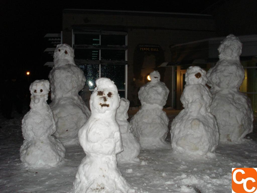 Regimental Snowmen