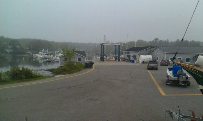 Fog at the boatyard
