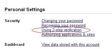 Using 2-step Verification