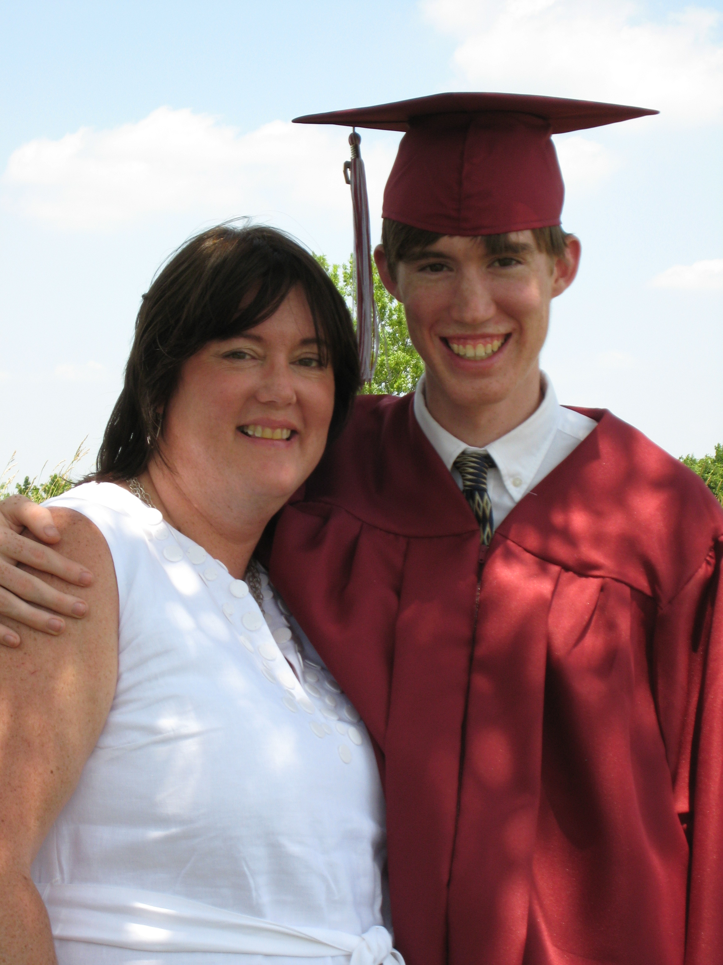 Mom and Me at my High School Graduation