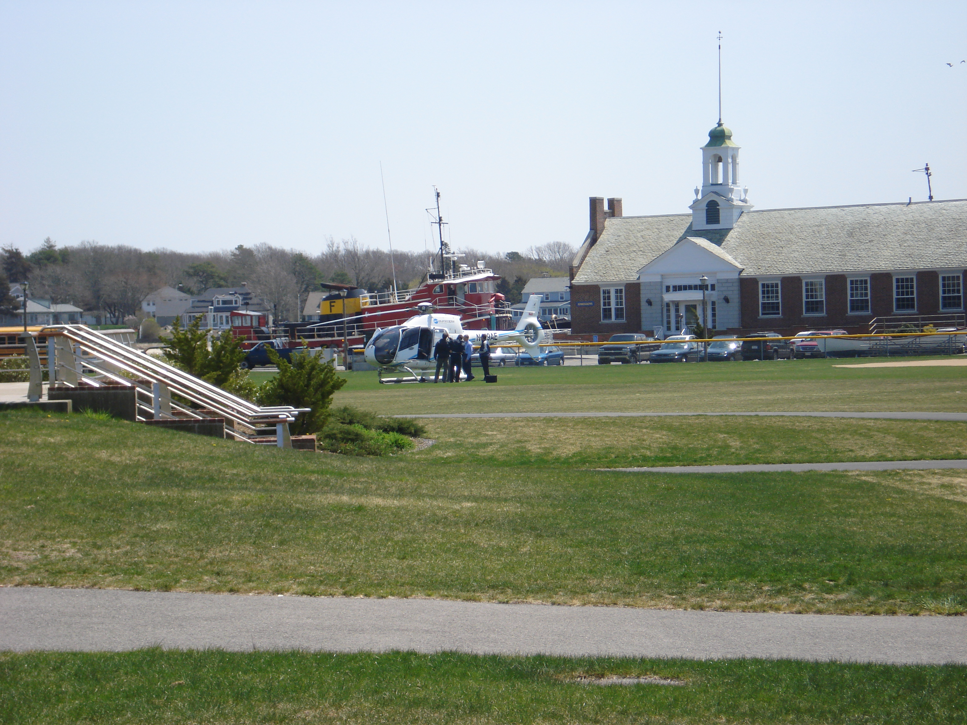 Helicopter at Mass Maritime