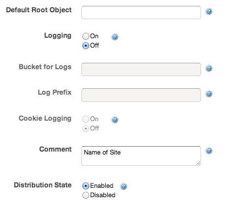 CloudFront: Logging and Comment