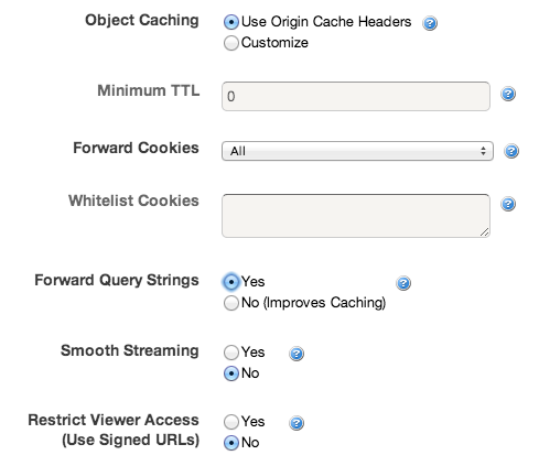 CloudFront: Object Caching & Cookies
