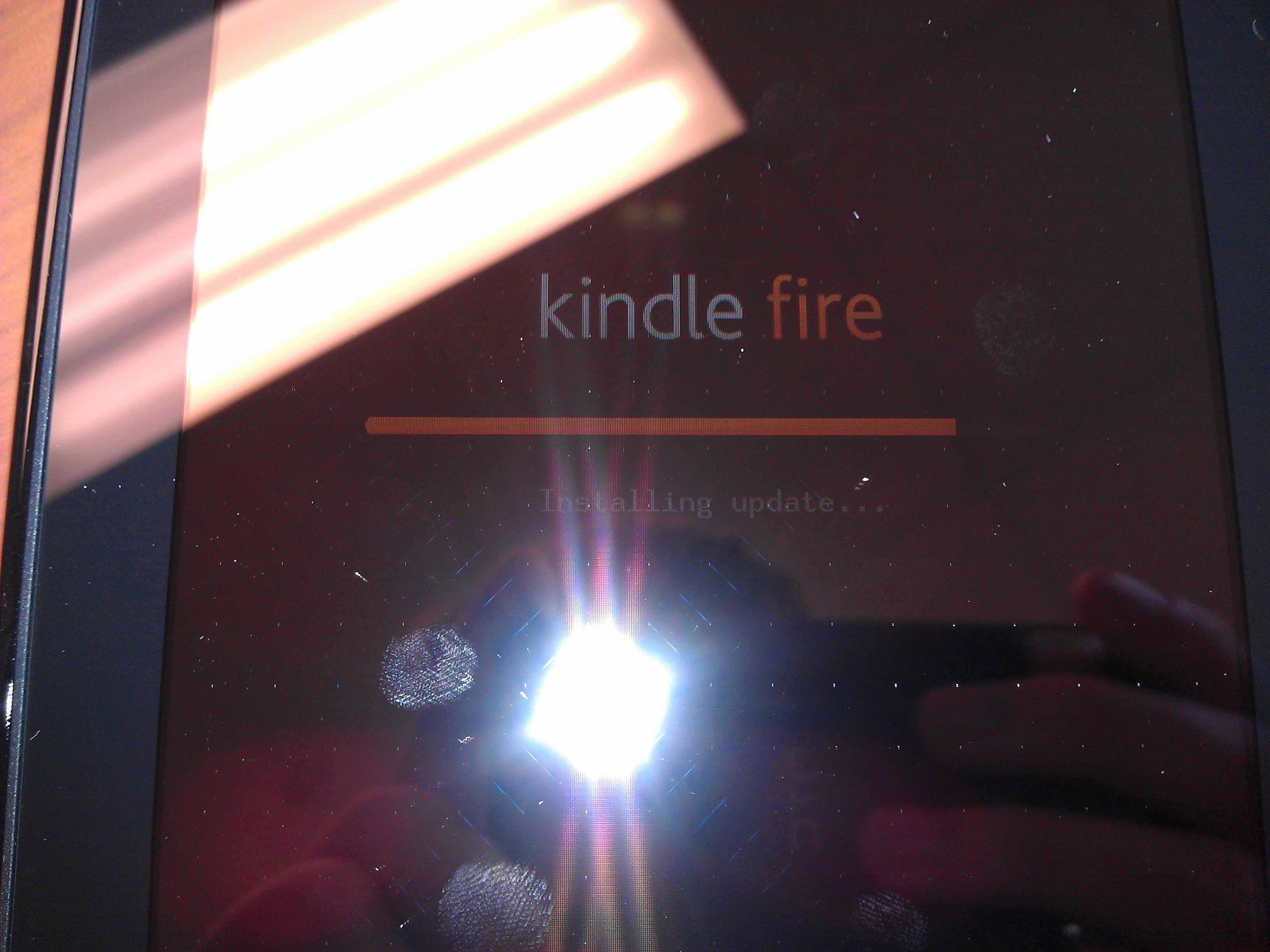Kindle Fire Installing Update