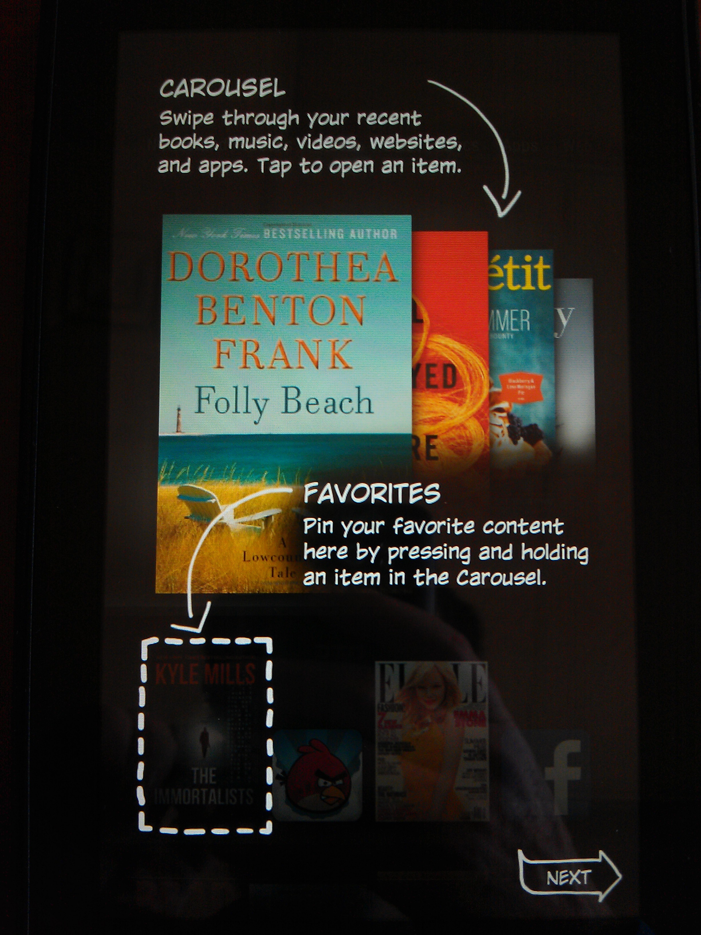 Kindle Fire Intro Screen 2