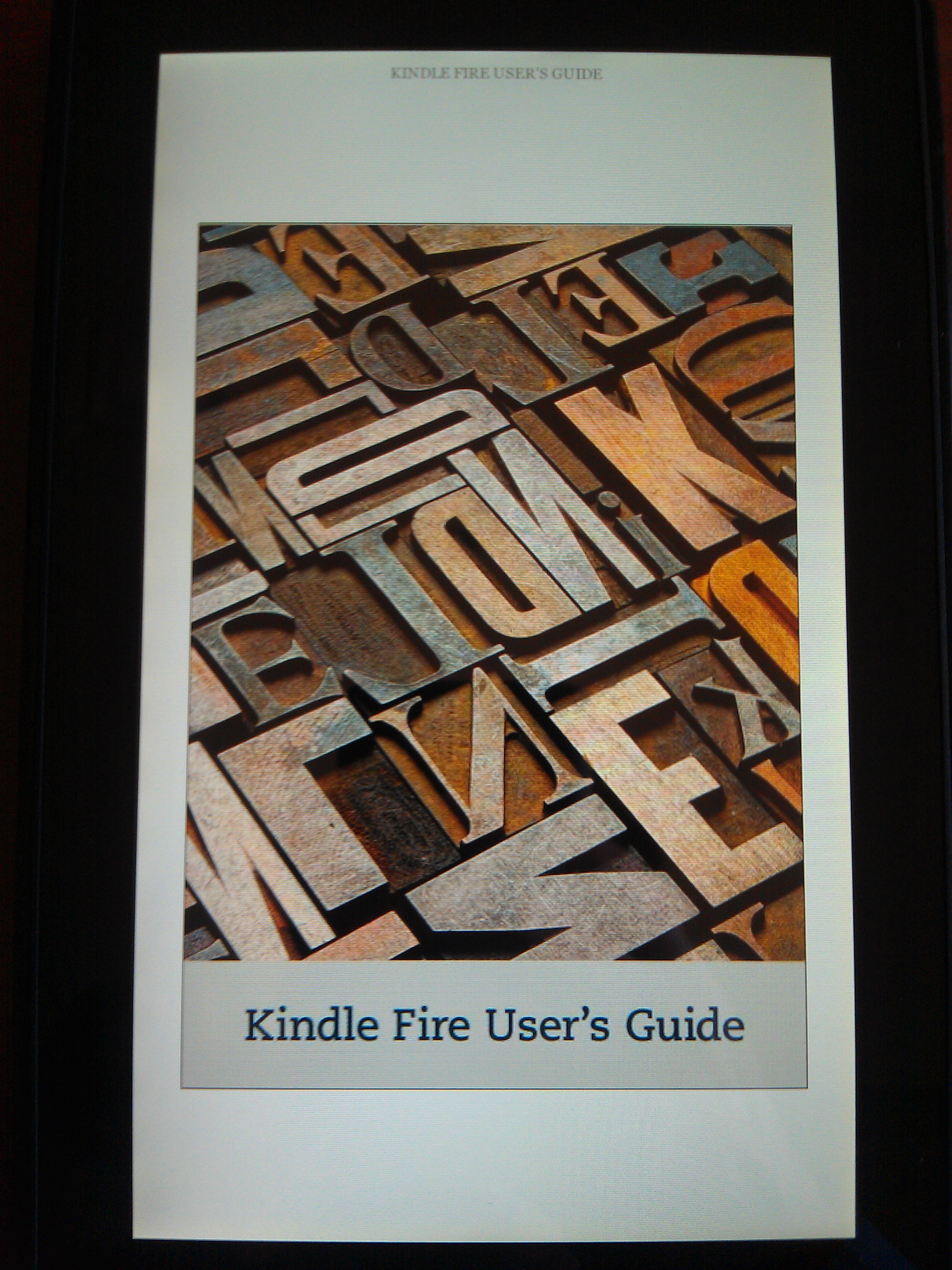 Kindle Fire Manual Cover