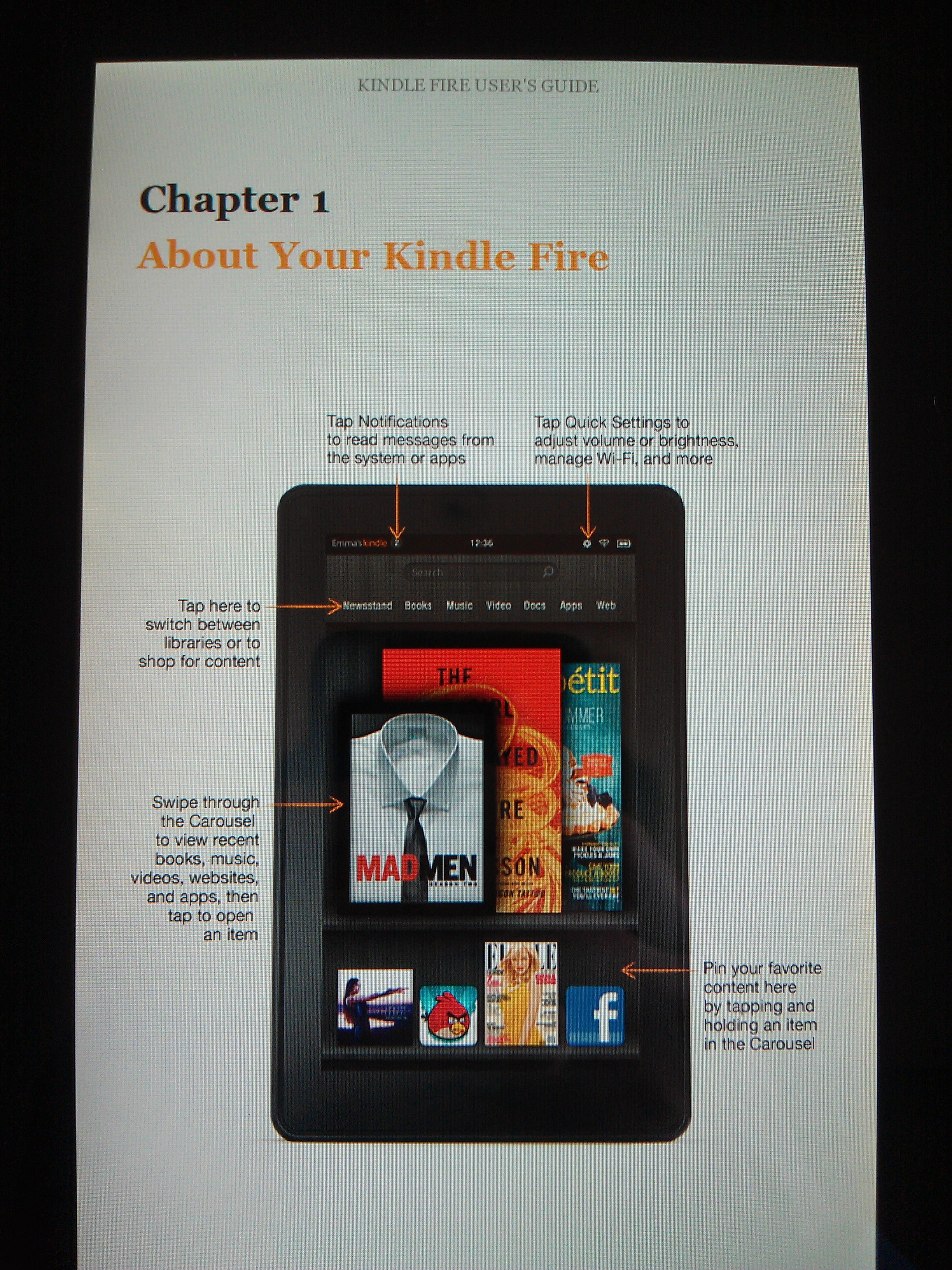 Kindle Fire Device Diagram