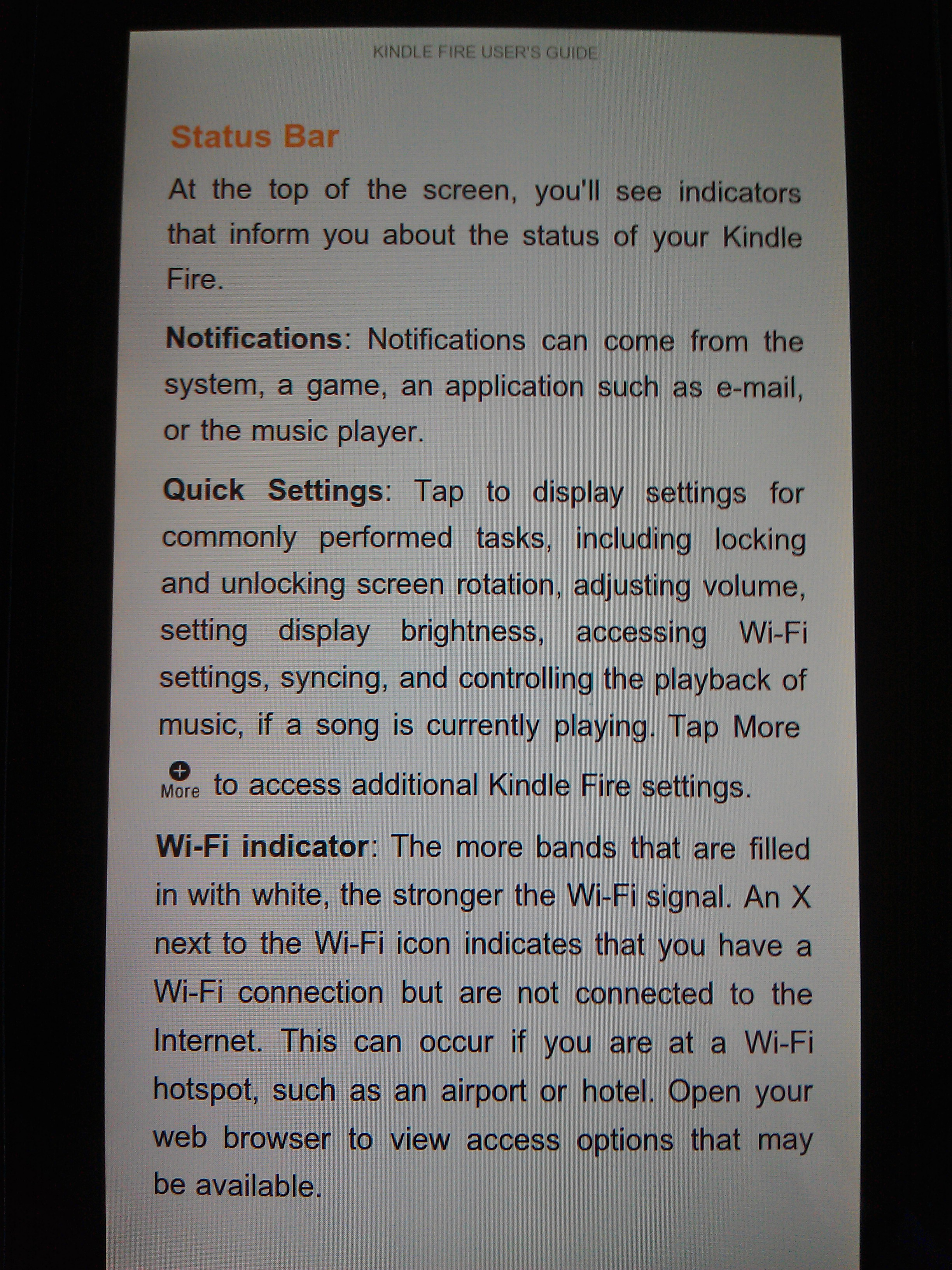 Kindle Fire Manual Page