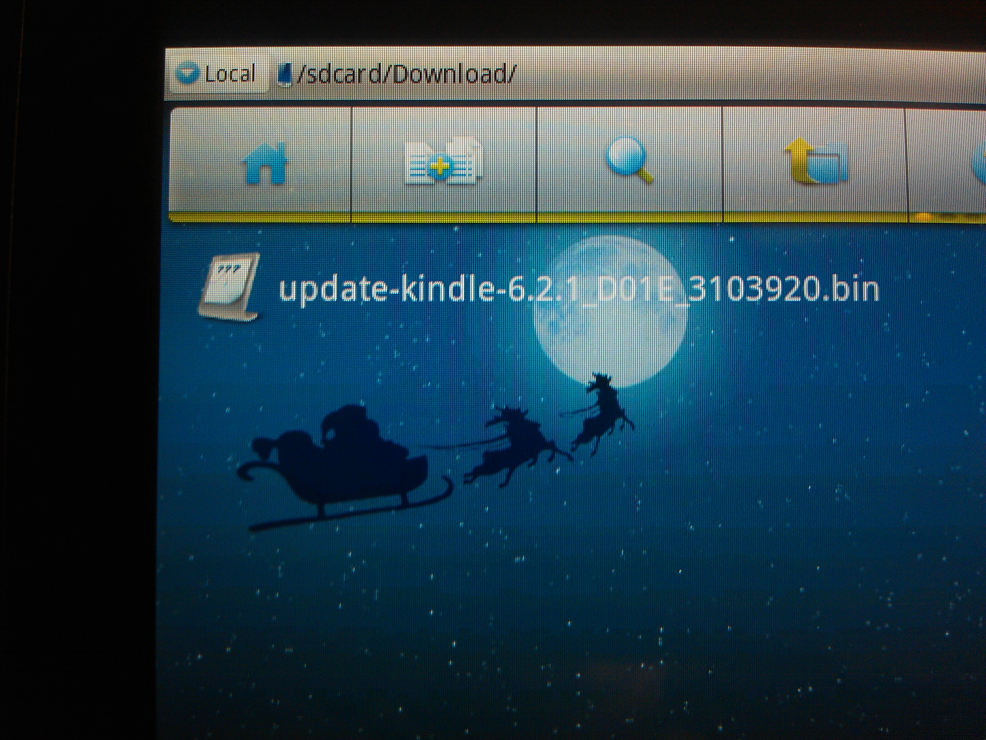 Kindle Fire Software 6.2.1 Update File in the 'Download' Folder