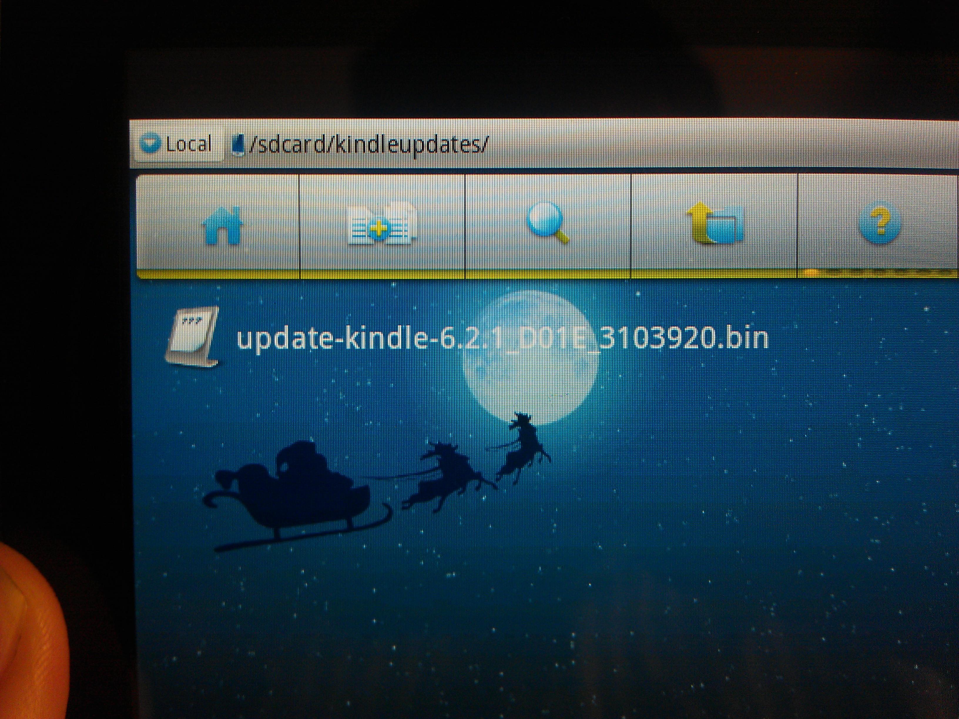 Kindle Fire Software Update in 'kindleupdates' Folder