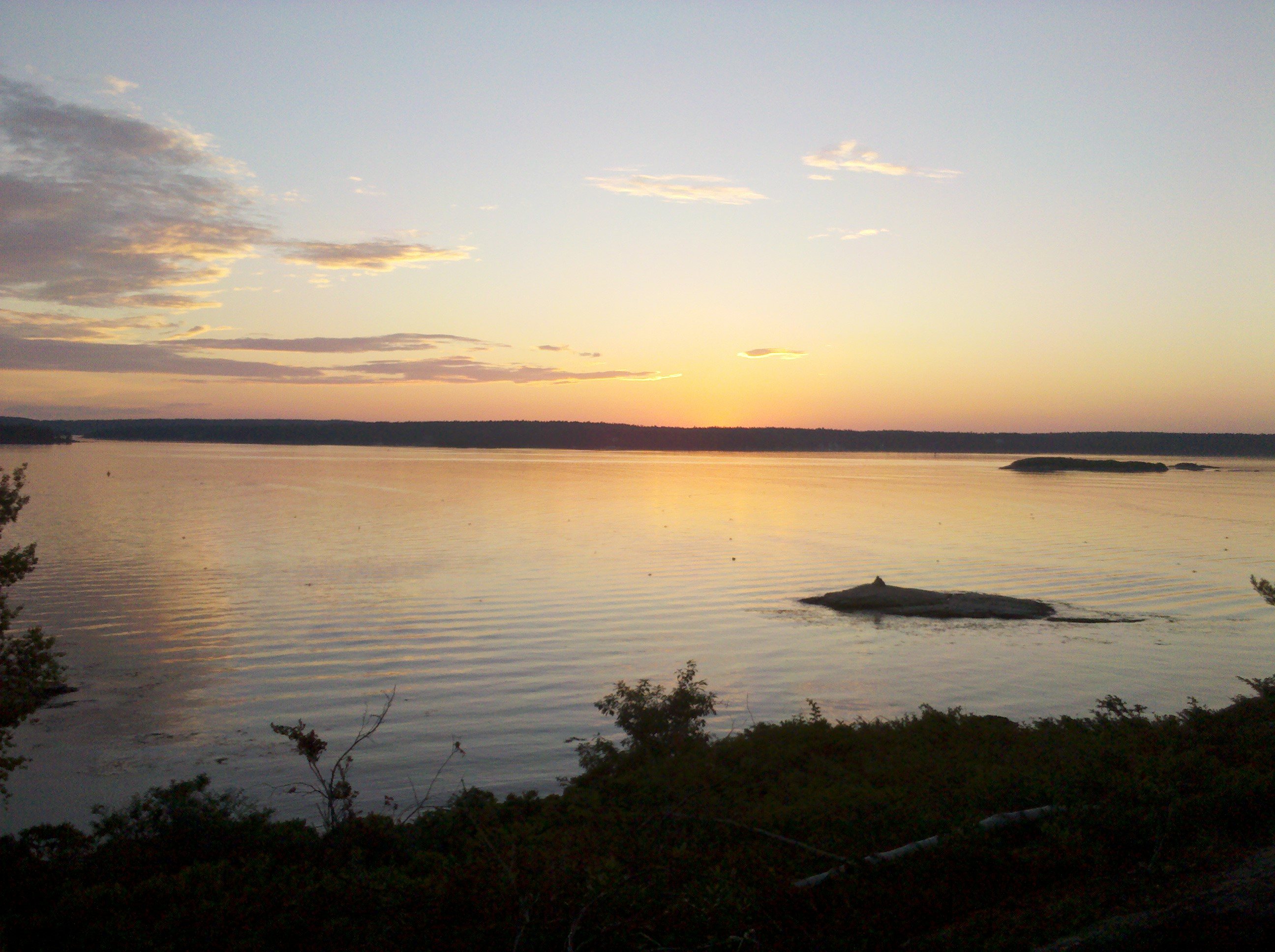 Sunset over the Sheepscot River