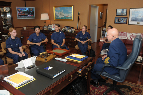 "Coast Guard Commandant with ""the millenials"""
