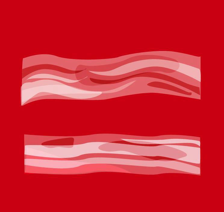Marriage equality expressed with bacon...because everybody loves bacon.