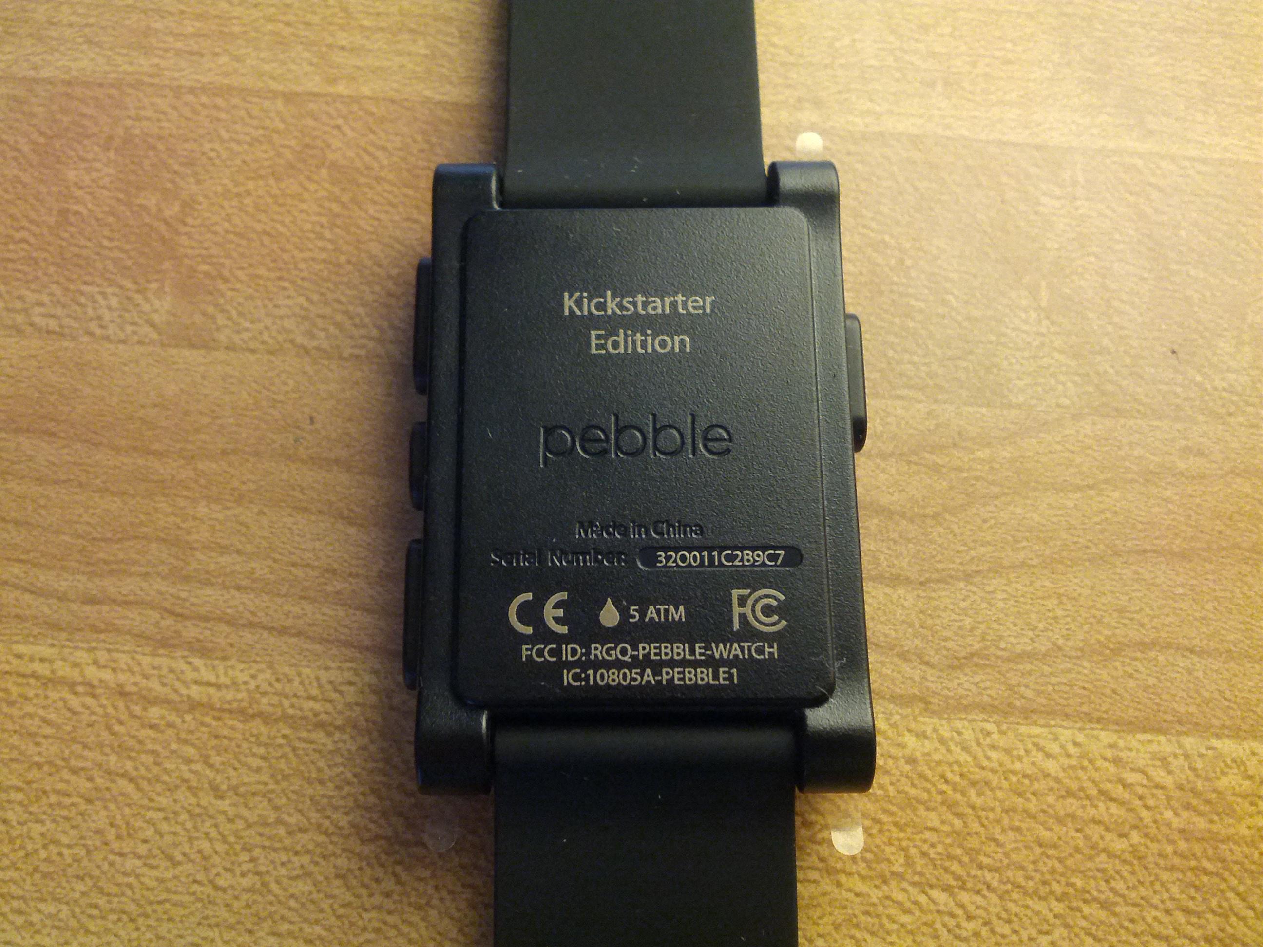 "Because I backed Pebble on Kickstarter, my watch has ""Kickstarter Edition"" written on the back."