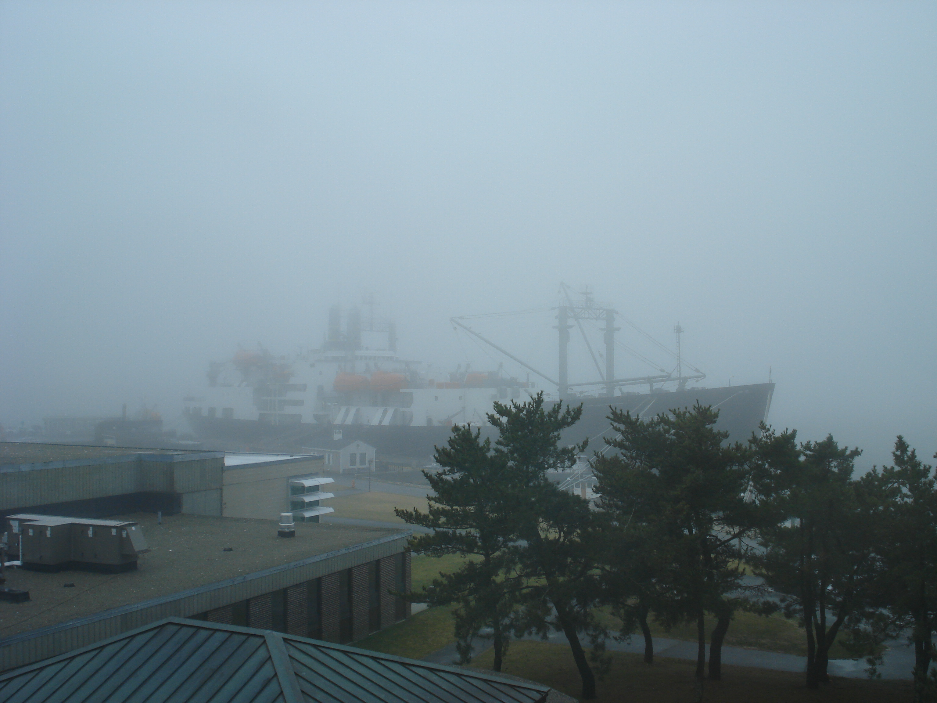 T.S. Enterprise in the fog