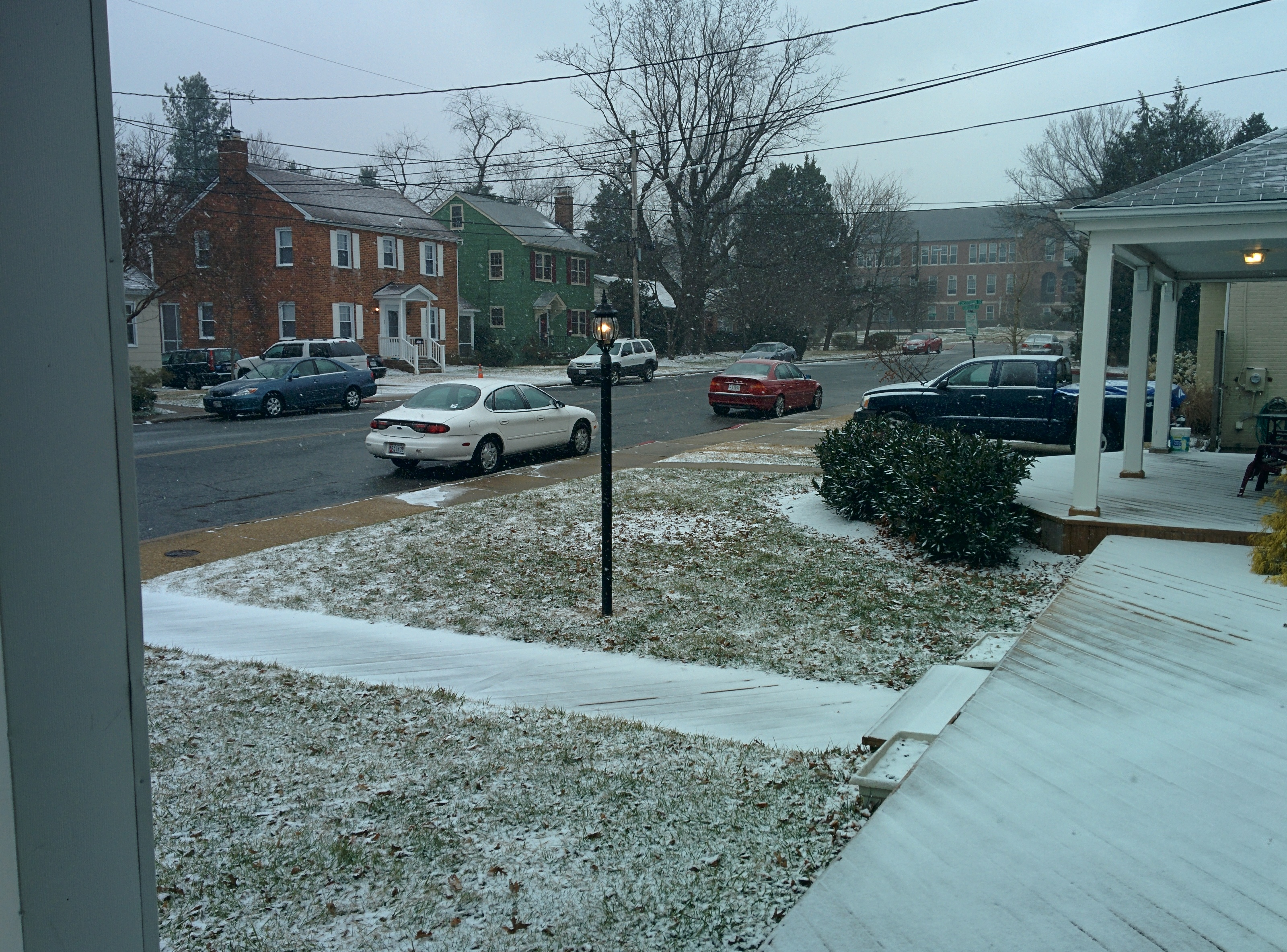 Start of the snow