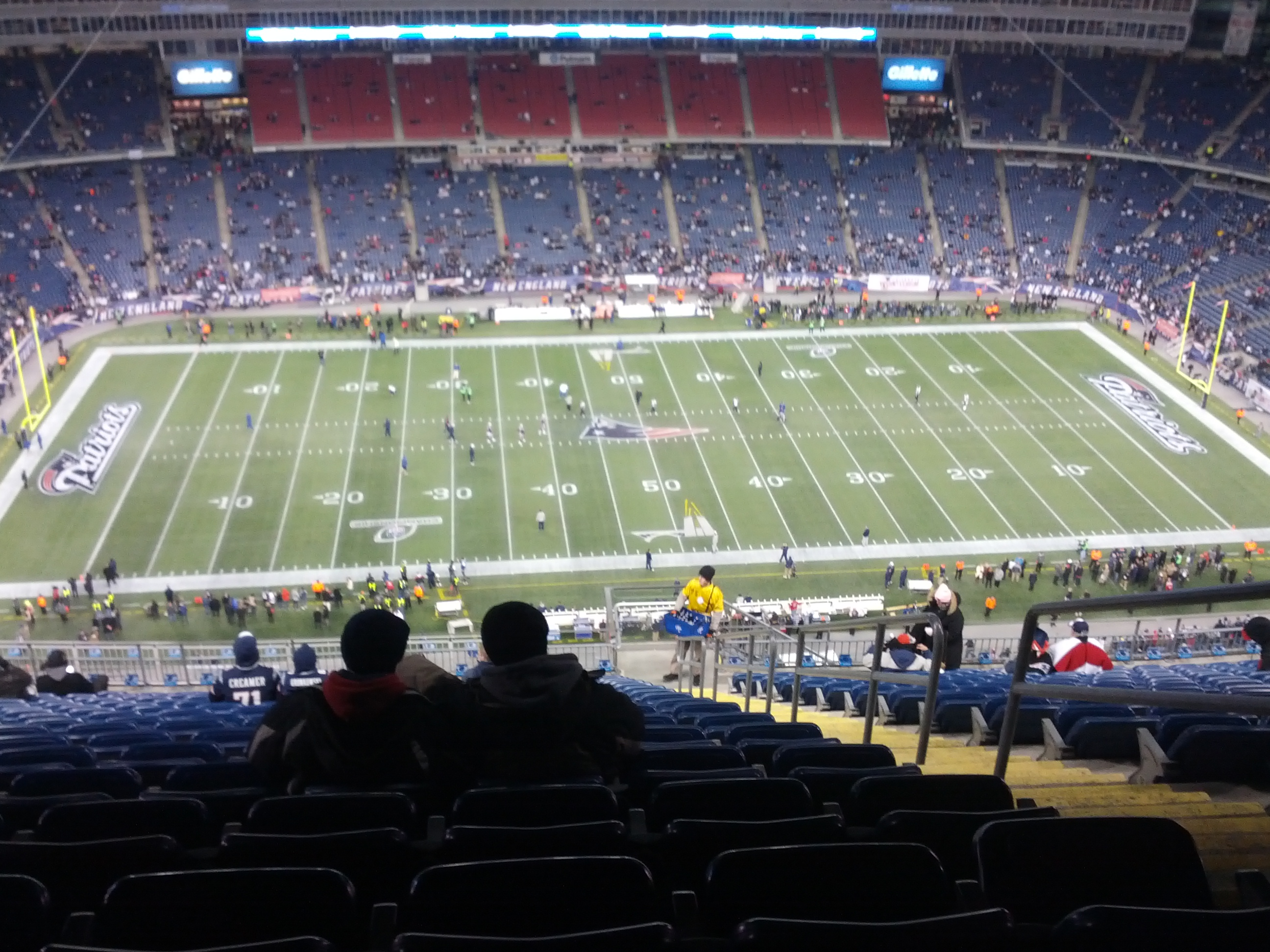 View from the stands at Gillette Stadium