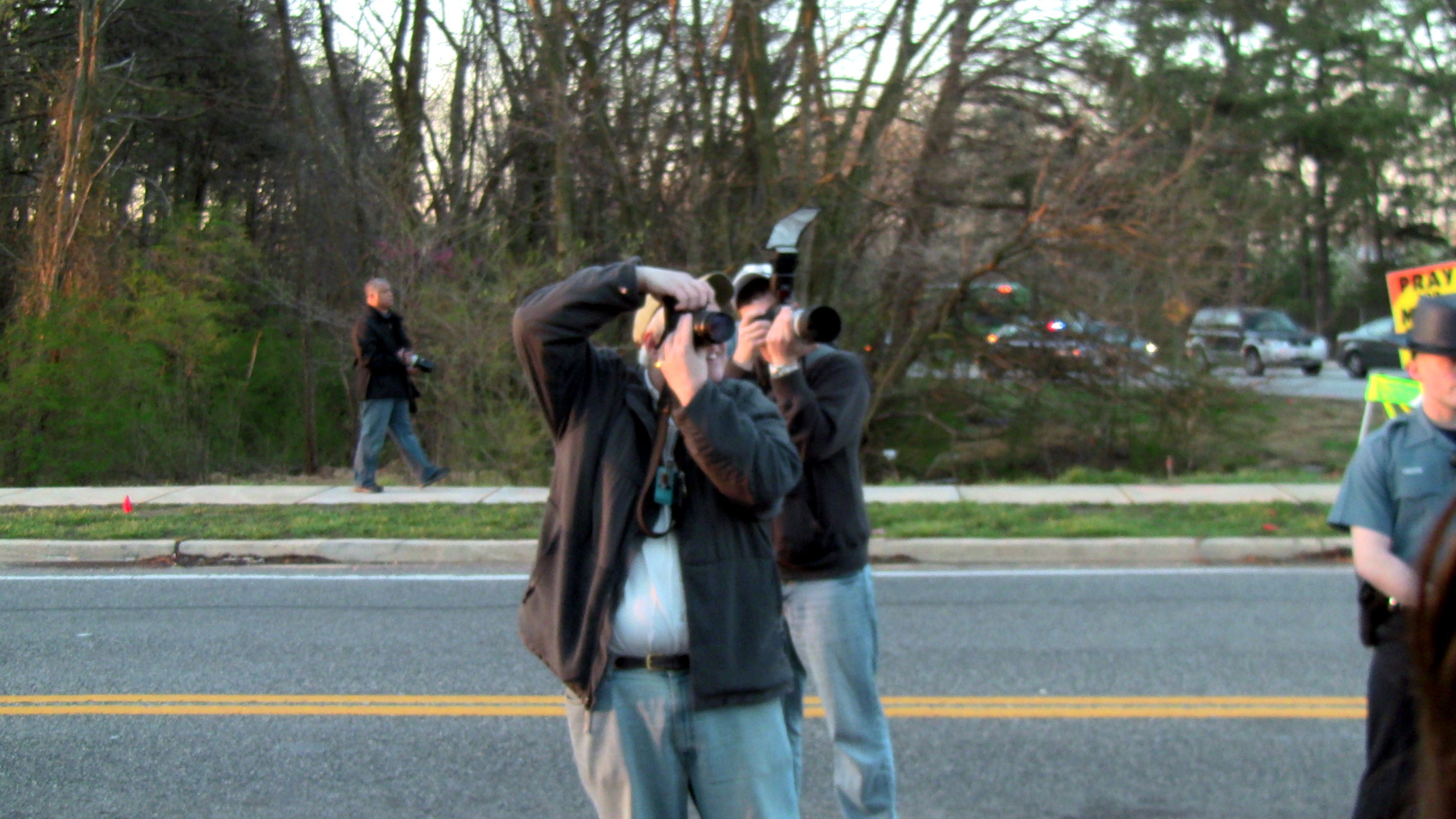 Journalists Photographing the Counter Protest