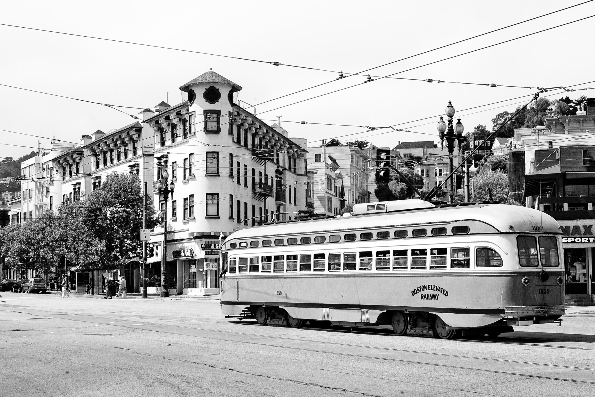 Street car on Market Street